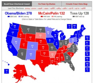 real clear politics electoral vote map