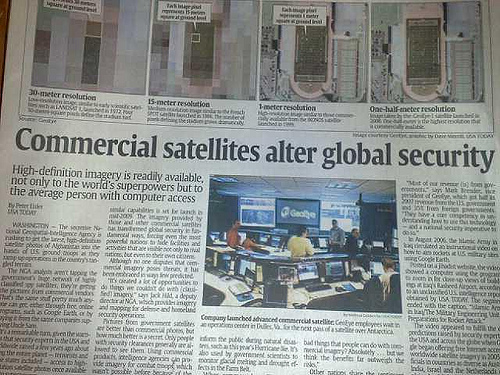 GeoEye scores Big headlines in USA Today