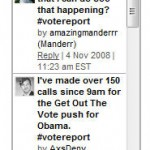 Follow what people are Tweeting about via VoteReport