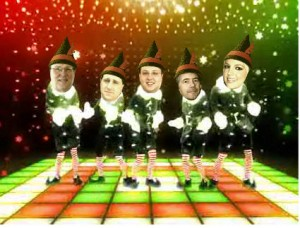 Happy Holidays from Marc, Rich, Allen, Glenn (and Britney... huh?)