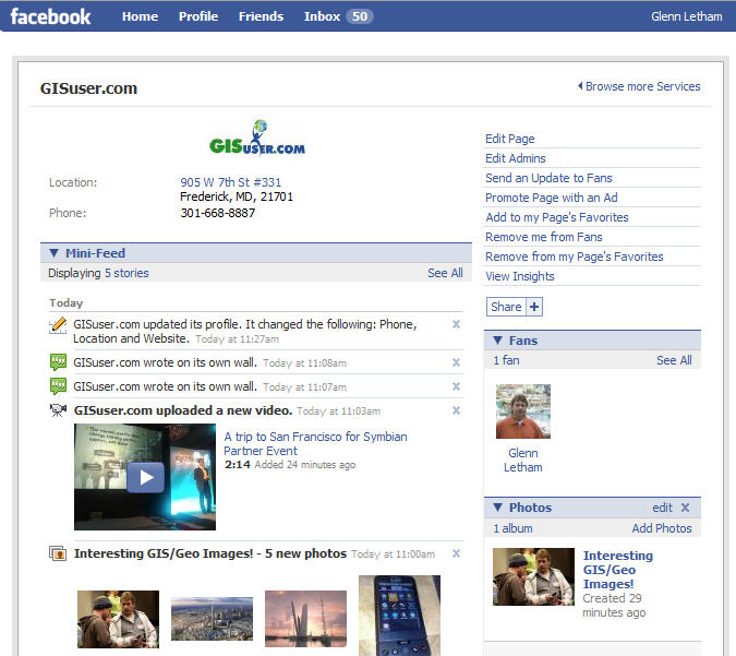 New GISuser Page on facebook