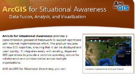 ArcGIS for GeoIntel – Enter ArcGIS for Situational Awareness