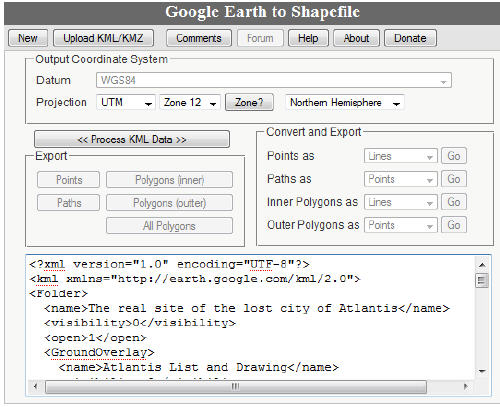 Tip – Convert Google Earth KML to Shape (SHP)