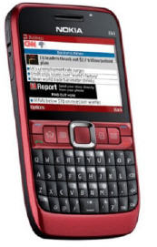 Nokia E63 – in red hot or cool blue Available in the USA for $279 unlocked!