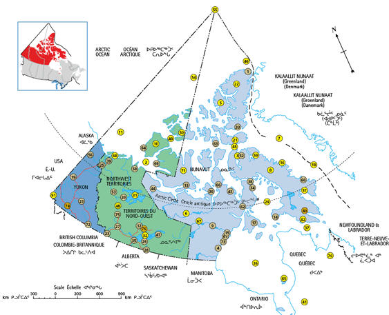 Northern Towns left off map stirs up Canadas Northern Strategy – Map of Canada North