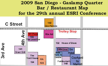 A Must have for the ESRIUC San Diego Gaslamp Restaurant and Bar