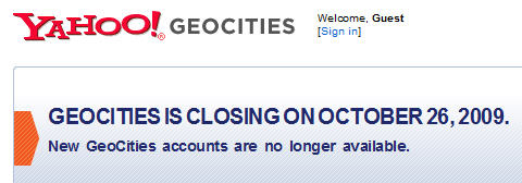 GeoCities R.I.P as Yahoo! pulls the plug