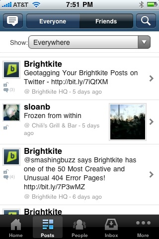 10 Mobile, Geo Social Location-Aware Apps To Watch in 2010 – #1 Brightkite