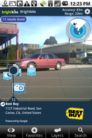 Mobile Advertising Gets a Boost From Augmented Reality on Brightkite