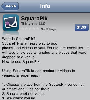 A work-around to add photos to Foursquare Checkin with iPhone
